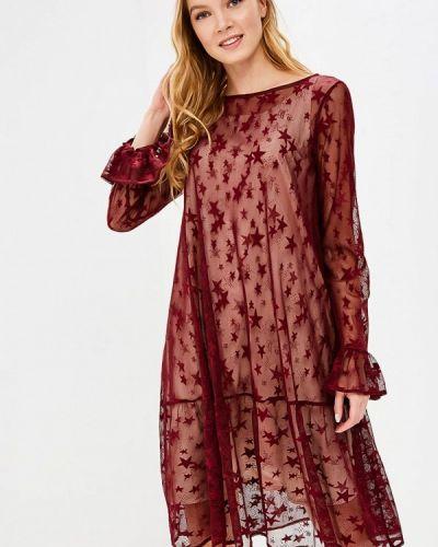 Платье весеннее красный Aelite