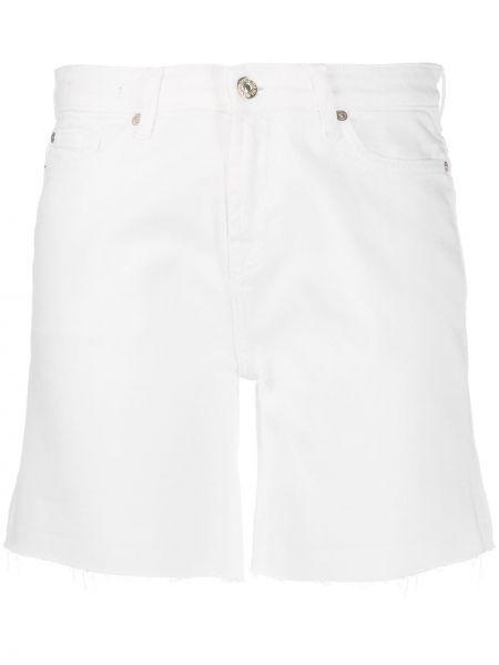 Классические джинсовые шорты со стразами с карманами на пуговицах 7 For All Mankind