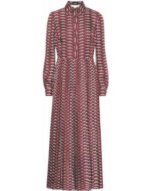 Платье миди бордовый деловое Valentino