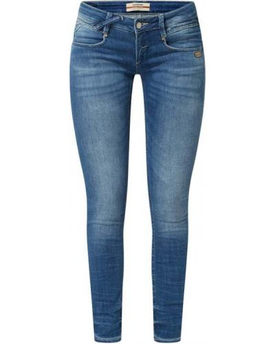 Mom jeans bawełniane - niebieskie Gang