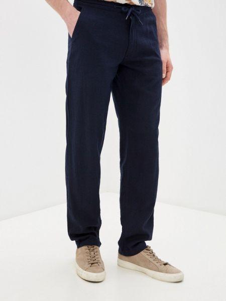 Синие прямые брюки новогодние Marks & Spencer
