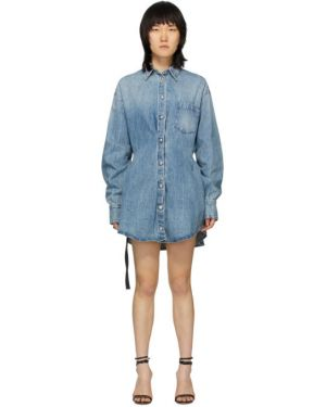 Джинсовое платье макси на пуговицах Unravel