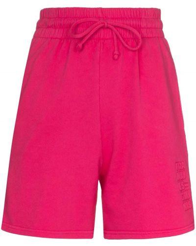 С завышенной талией розовые хлопковые шорты Frankie's Bikinis