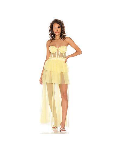 Платье с декольте For Love & Lemons