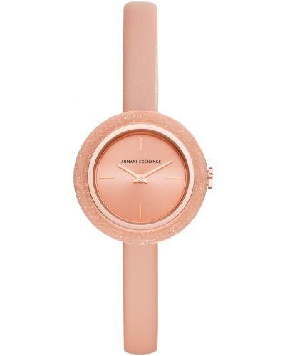 Różowy złoty zegarek Armani Exchange