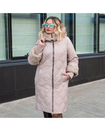 Куртка оверсайз - бежевая Uk Fashion