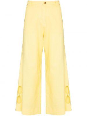 Żółte spodnie z wiskozy Racil