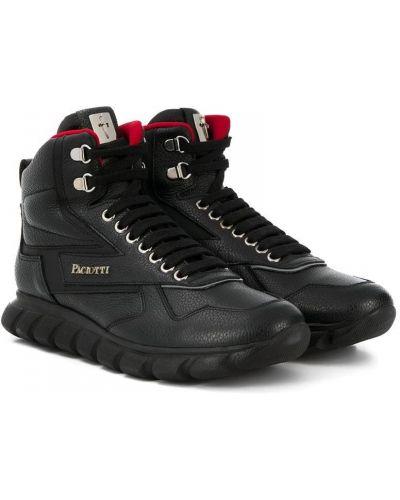 Черные кеды на шнурках Cesare Paciotti Kids