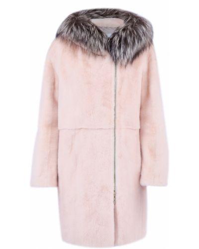 Норковая шуба - розовая Yves Salomon