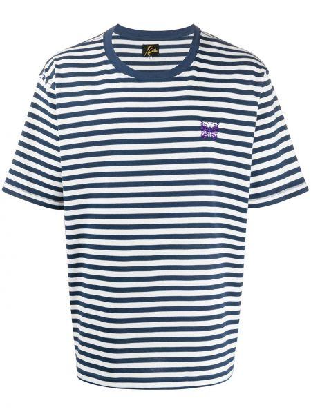 Koszula krótkie z krótkim rękawem z paskami w paski Needles