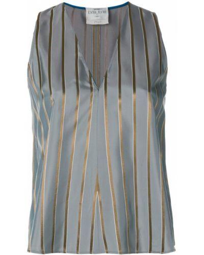 Блузка без рукавов в полоску из вискозы Forte Forte