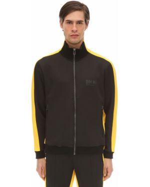 Prążkowana czarna kurtka Dim Mak Collection