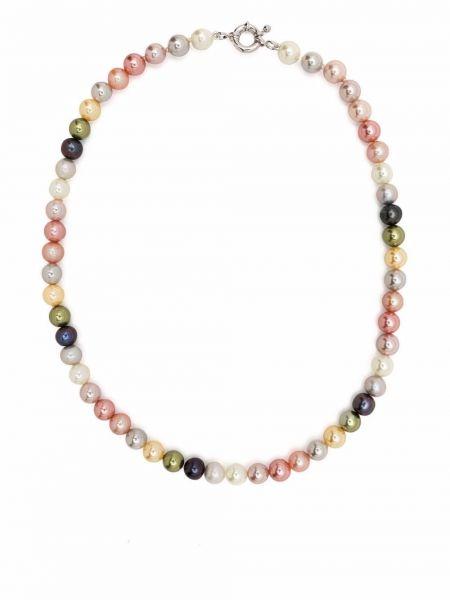 Розовое ожерелье с жемчугом Polite Worldwide
