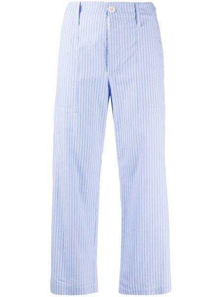 Przycięte spodnie z kieszeniami z paskiem Jejia