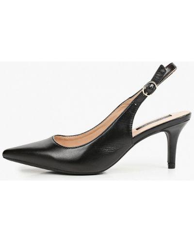 Черные кожаные туфли с открытой пяткой Vera Blum