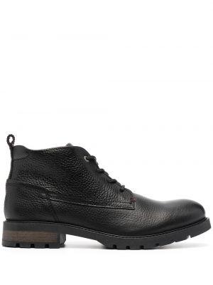 Кожаные ботинки - черные Tommy Hilfiger