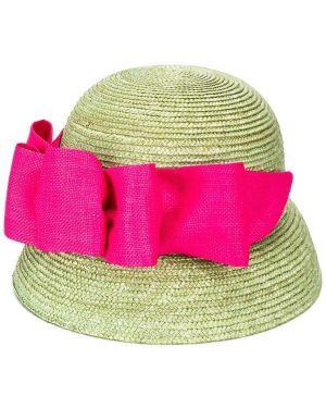Зеленая классическая соломенная шляпа Mi Mi Sol