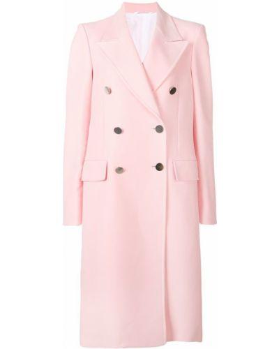 Приталенное розовое пальто классическое с капюшоном Calvin Klein 205w39nyc
