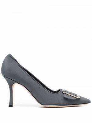 Синие туфли с пряжкой Manolo Blahnik