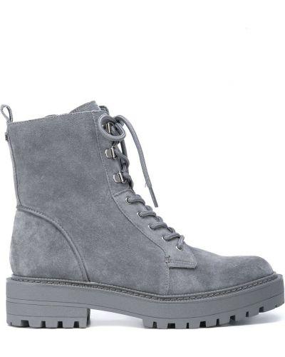 Серые кожаные ботинки Sam Edelman