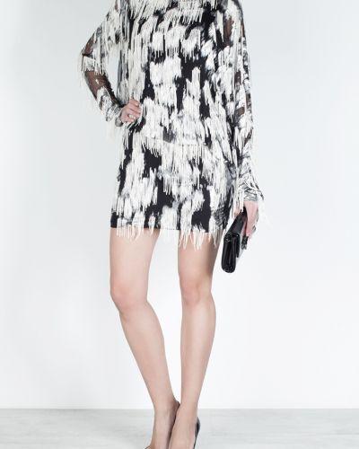 Брендовое шерстяное белое платье мини Jay Ahr