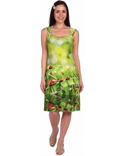 Сарафан из вискозы зеленый инсантрик