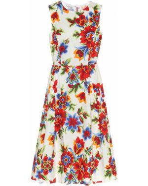 Платье миди с цветочным принтом модерн Carolina Herrera