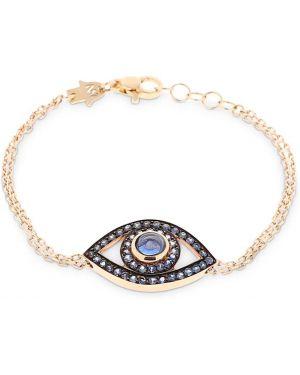 Niebieska złota bransoletka ze złota kwarc Netali Nissim