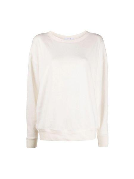 Biała bluza dresowa Frame