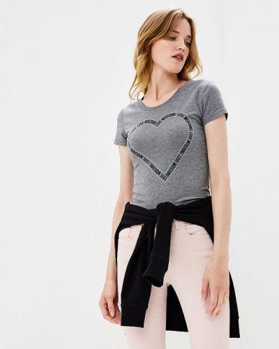 Серая футболка 2019 Love Moschino
