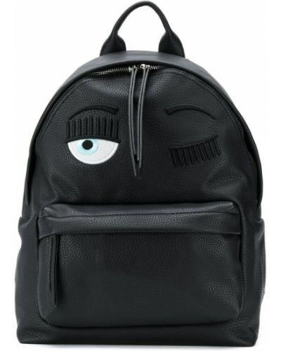 Рюкзак кожаный черный Chiara Ferragni Kids