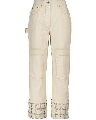 Бежевые прямые джинсы Jw Anderson