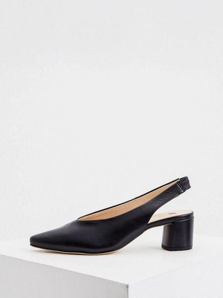 Черные кожаные туфли из натуральной кожи Hogl