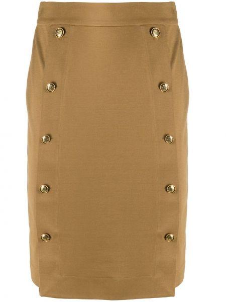 Z wysokim stanem spódnica ołówkowa złoto z wiskozy w połowie kolana Givenchy