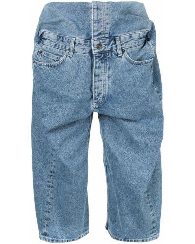 Джинсовые шорты с карманами со стразами на пуговицах Y/project