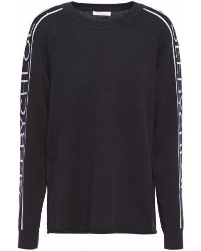Ватный черный шерстяной свитер See By Chloé