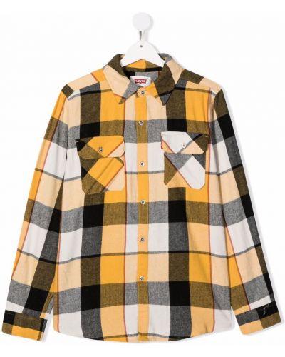 Żółta koszula bawełniana Levis Kids