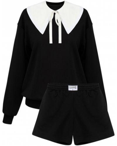 Czarny garnitur bawełniany Sleeper