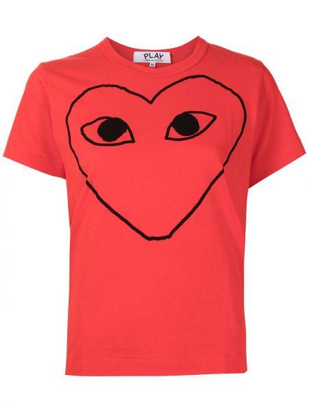 T-shirt bawełniany krótki rękaw z printem Comme Des Garcons Play