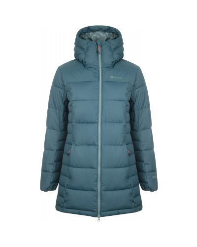 Прямая теплая зеленая утепленная куртка на молнии Outventure