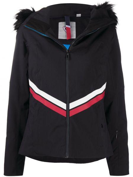 Черная длинная куртка с капюшоном из искусственного меха Rossignol