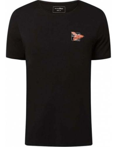T-shirt bawełniana - czarna Tom Tailor Denim