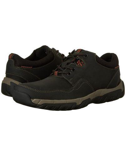 Кожаные кроссовки - черные Clarks