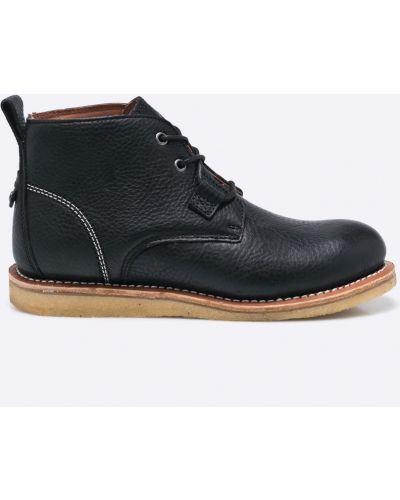 Кожаные ботинки на шнуровке высокие Dickies