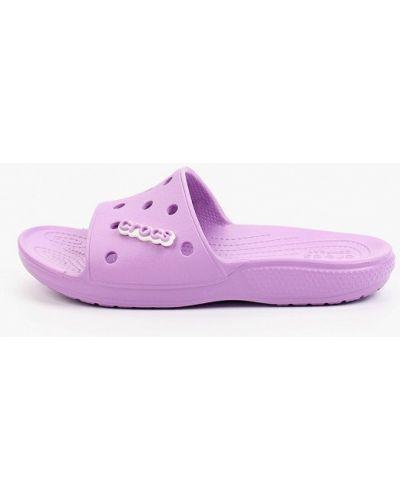 Фиолетовые сабо летние Crocs