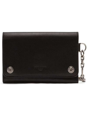 Черный кожаный кошелек с карманами Dolce & Gabbana