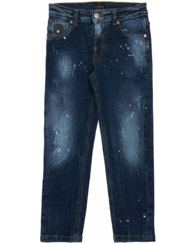 Bawełna bawełna niebieski jeansy z kieszeniami John Richmond