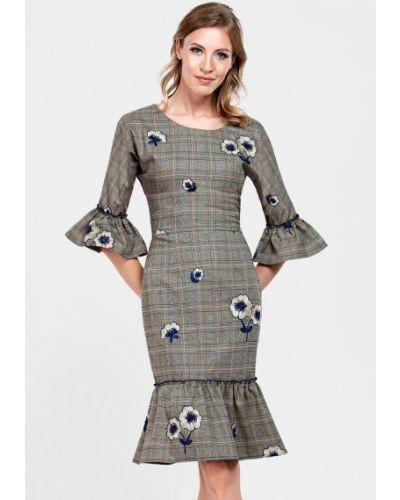 Платье осеннее бежевое Alisia Fiori