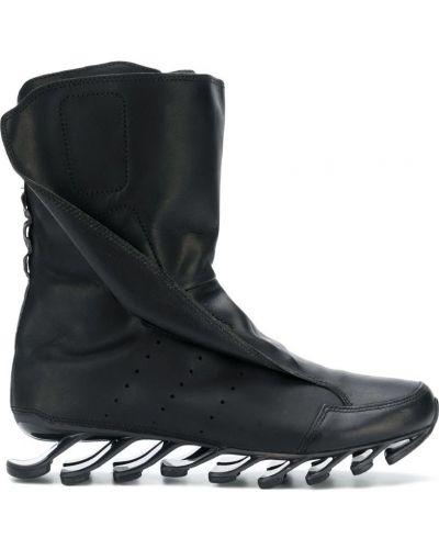 Черные кожаные ботинки Adidas By Rick Owens