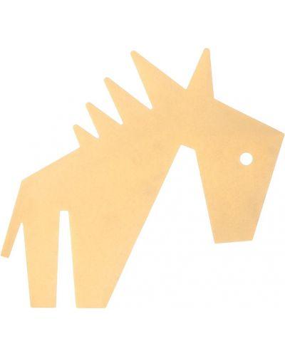 Złoty żółty broszka Stella Mccartney